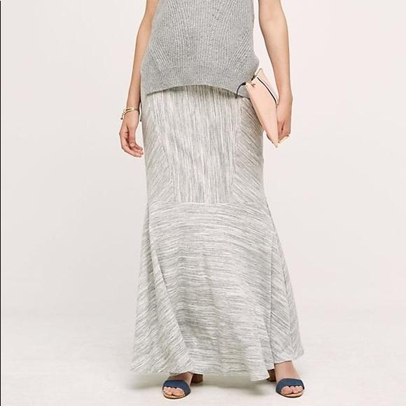 Anthropologie Dresses & Skirts - ANTHROPOLOGIE NWT Grey Maxi Skirt RO&DE Size L